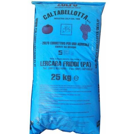 Zolfo correttivo ramato 5 blu uso agricolo verdura frutta agricoltura uva kg 25