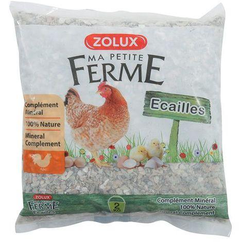 """Zolux Aliment Complémentaire """"Ecailles"""" pour Poules - 2 kg"""