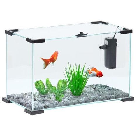 ZOLUX Aquarium Nanolife First avec filtre - 18,5 L - 40 x 20 x 25 cm - Noir