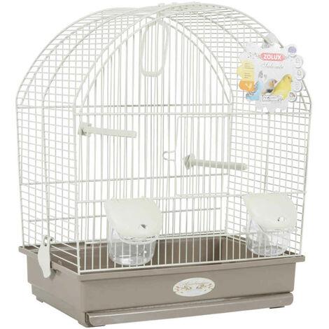 Zolux - Cage Arabesque Salomée de 40cm pour Oiseaux - Taupe