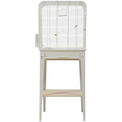 Zolux - Cage et Meuble Chic Loft Blanc pour Oiseaux - L