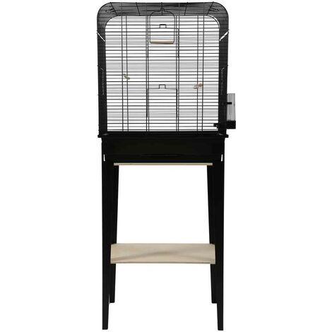 Zolux - Cage et Meuble Chic Loft Noir pour Oiseaux - L