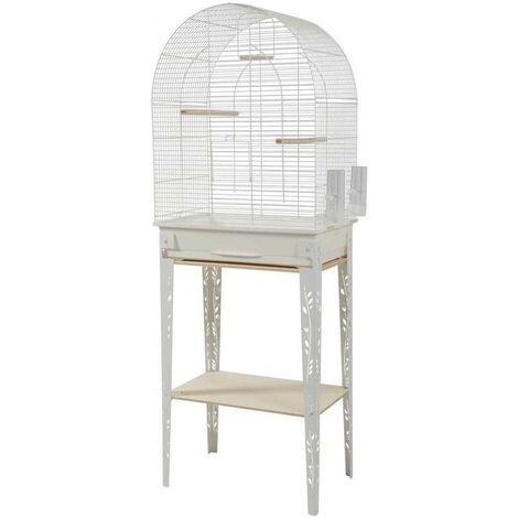 Zolux - Cage et Meuble Chic Patio Blanc pour Oiseaux - L