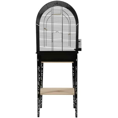 Zolux - Cage et Meuble Chic Patio Noir pour Oiseaux - L