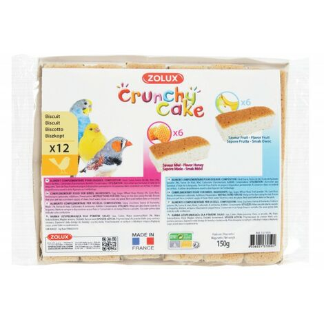 Biscuits pour oiseaux crunch cake x12