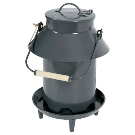 ZOLUX Feeder On stand - With roof - Metal - Grey - 3,5Kg - 175645