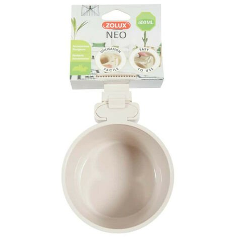 ZOLUX Feeding trough to fix - Beige - 500 ml - 206698