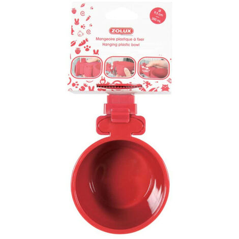 ZOLUX Feeding trough to fix - Red - 300 ml - 206691