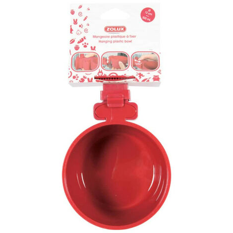 ZOLUX Feeding trough to fix - Red - 500 ml - 206693
