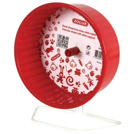 ZOLUX Rodent Exercise Wheel - With foot - Metal - Red - 12 cm - 206724