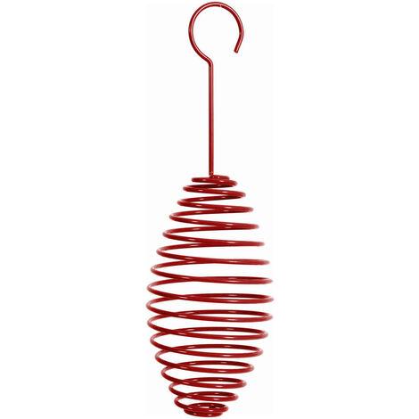 Zolux - Support à Spirale Boule de Graisse pour Oiseaux du Ciel - Rouge