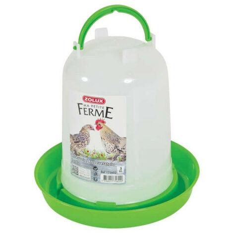ZOLUX Water Trough - White-Green - 3L - 175602