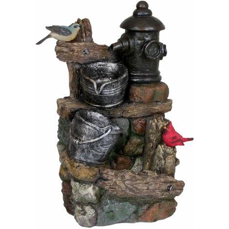 Zone extérieure printemps fontaine ornementale cascade pierre optique seau pompe de jardin oiseaux Harms 318800