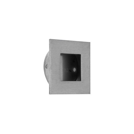 Zoo Hardware Flush Pull Square - Satin Stainless Steel- 30mm