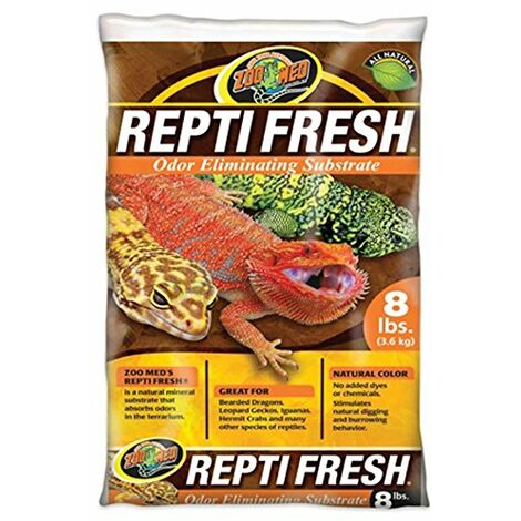 Zoo Med Reptifresh Odor Eliminating Substrat pour Reptile/Amphibien 3,6 kg