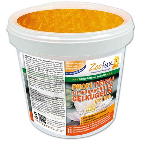 ZOOFUX Profi Gartenteich Filterbakterien Gelkugeln EXTRA (Lösen sich nach und nach auf und geben dabei kontinuierlich die wichtigen Mikroorganismen ab)