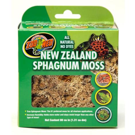 Zoomed New Zealand Sphagnum Moss 1,3 litri - muschio naturale per rane, rospi, salamandre ed ogni altra specie da ambiente muschioso, il substrato migliore per l' uso con le rane dardo