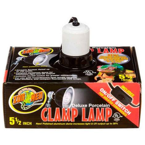 Zoomed - Réflecteur Ampoule Deluxe Porcelain Clamp Lamp pour Terrarium - 100W