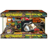 Zoomed ReptiHabitat Leopard Gecko kit - Terrarrio Completo di Accesssori Misure 51 x 25 x 30 cm