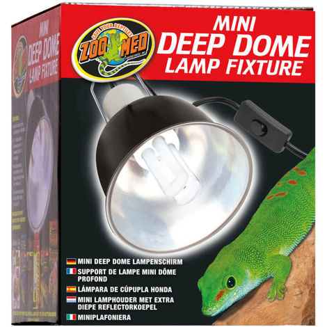 Zoomed - Support de Lampe Mini Dôme Profond Mini Deep Dome LF-18E pour Terrarium - 100W