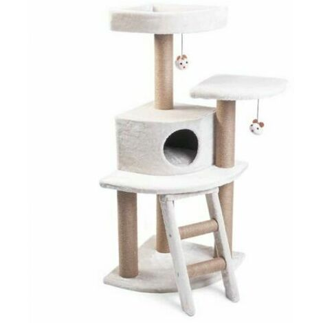 ZOON Pet 1.2 M Deluxe Corner Cat Activity House with Scratch Post/Scratcher