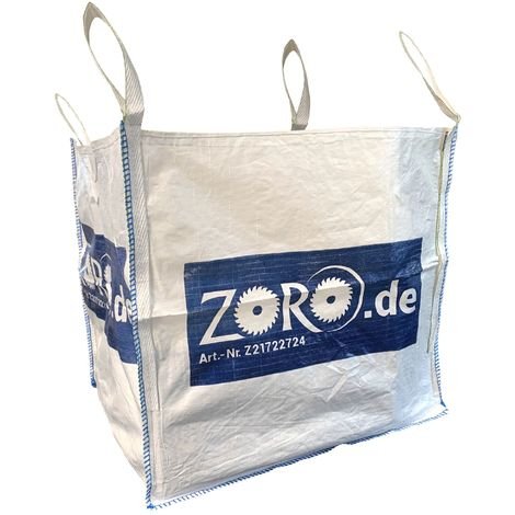 ZORO Big Bag 870 x 870 x 900 mm Traglast 1000 kg PP-Gewebesack Schüttgut