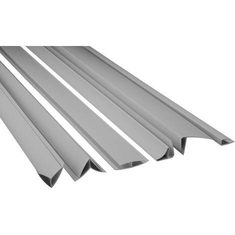 Zubehör für PVC Paneele Bretter Platten Wandverkleidung PP10-10, PP16-10 grau
