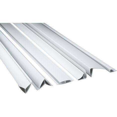 Zubehör für PVC Paneele Bretter Platten Wandverkleidung PP10 PP16 PP25 weiß