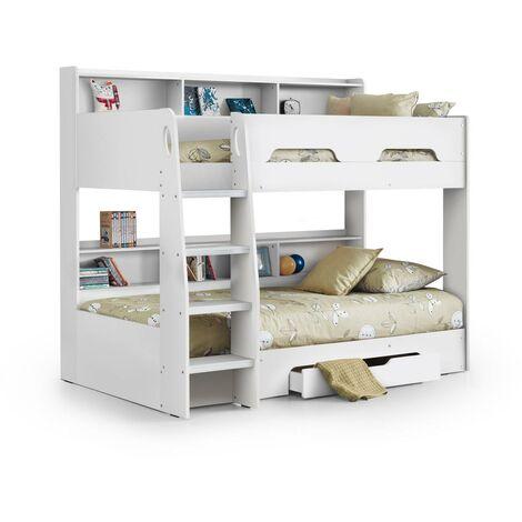Zula 3ft Single 90 x 190 White Bunk Bed Frame