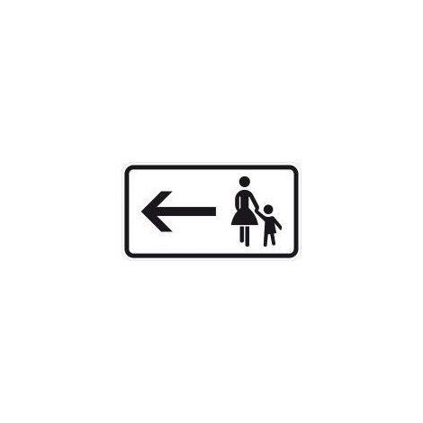 Zusatzzeichen 1000-12, 330x600mm Fußgänger links halten