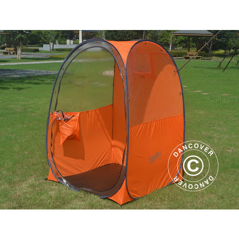 Zuschauer-Faltzelt Faltpavillon Wasserdicht, FlashTents®, 1 Person, Orange/Dunkelgrau