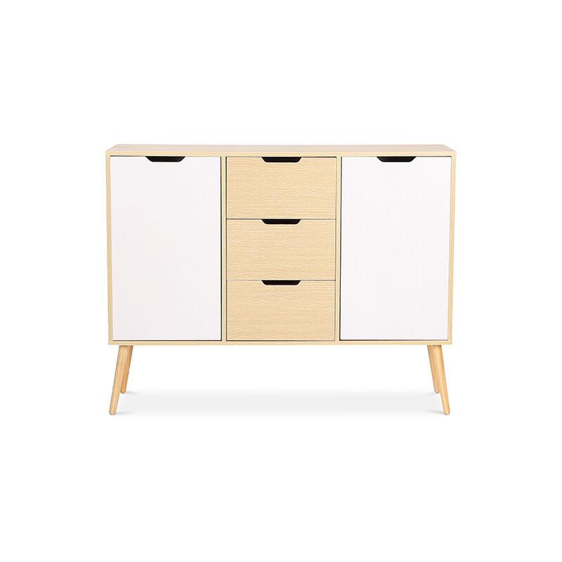 Zweifarbiges Sideboard im skandinavischen Stil - Holz Natural wood