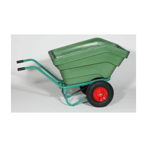 Zweiradkippkarre - Inhalt 350 l, Kunststoff Einradkarren Schubkarren