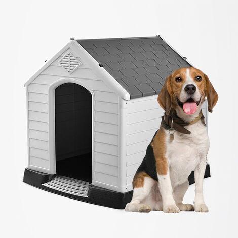 Zwinger für mittelgroße Hunde aus Kunststoff außen in RUBY