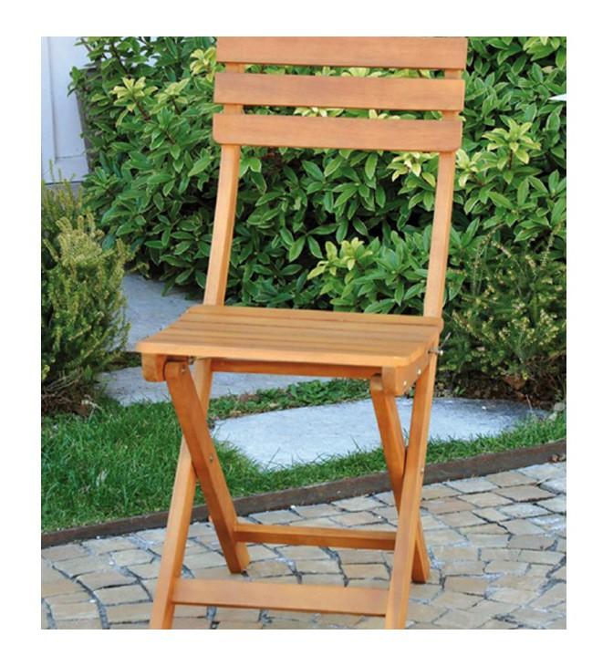 2 sedie pieghevoli in legno massello finitura teak for Sedie in legno massello