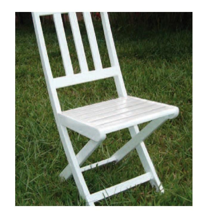 2 sedie pieghevoli in legno massello laccato bianco cm for Sedie in legno massello