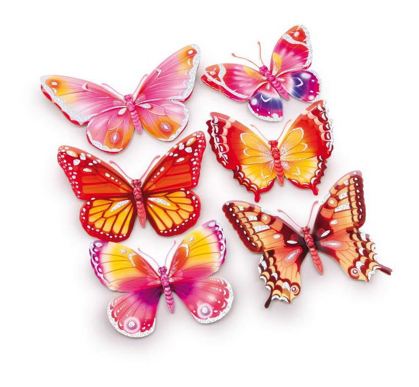 6 adesivi decorativi farfalla g2631 pavimenti e for Adesivi decorativi