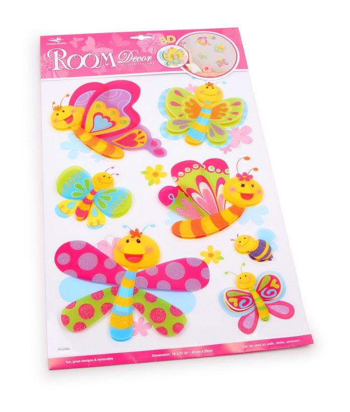Adesivi decorativi amici delle farfalle g2923 for Adesivi decorativi