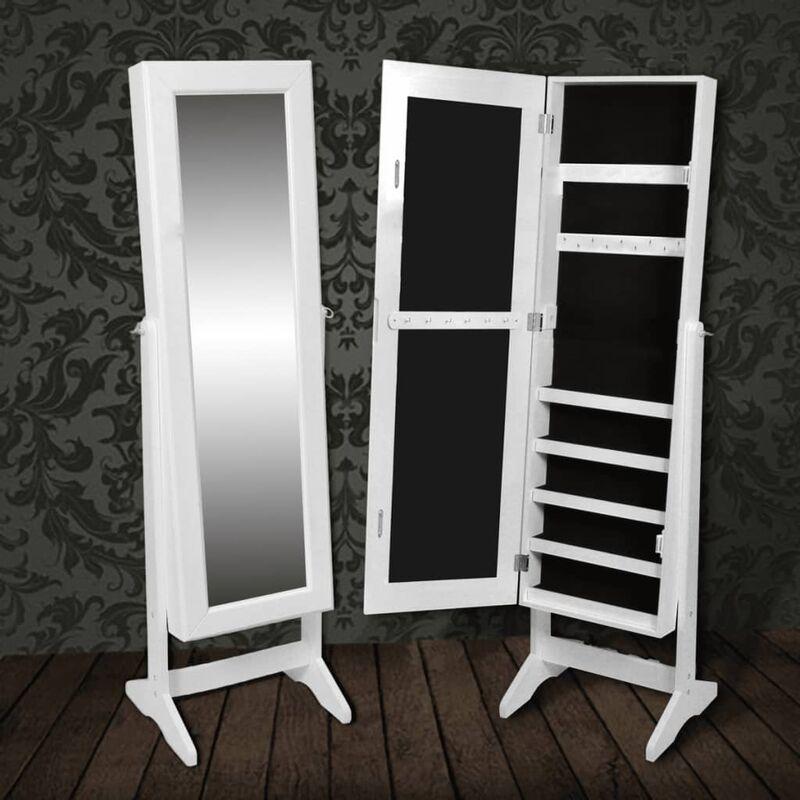 Armadietto portagioie autoportante con specchio bianco bagno - Armadietto specchio bagno ...