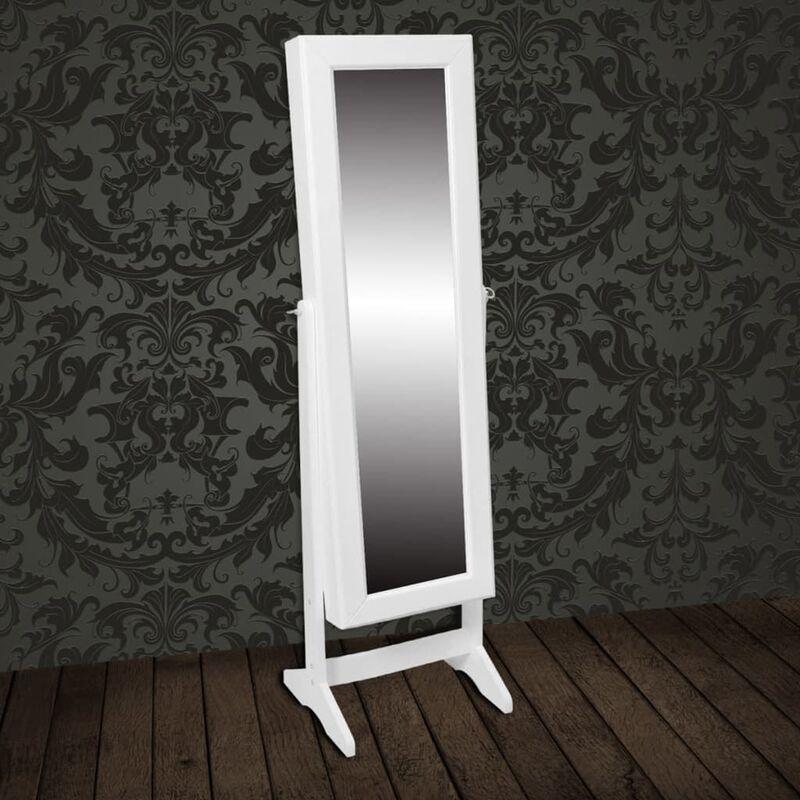 Armadietto portagioie autoportante con specchio bianco bagno - Armadietto bagno con specchio ...