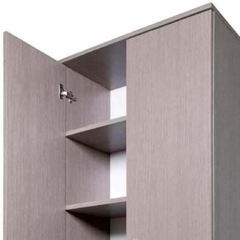 ... in legno nobilitato mobile due ante multiuso 3 ripiani cm130x71x38