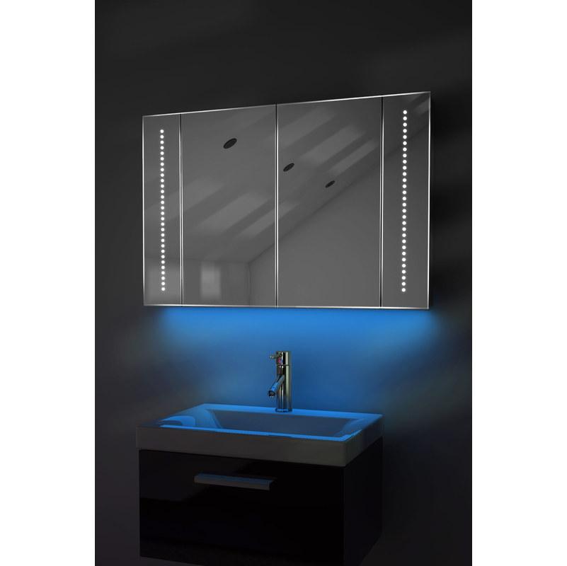 Armarios De Pie Baño:Armario de baño antivaho Ambient con sensor y enchufe para afeitadora