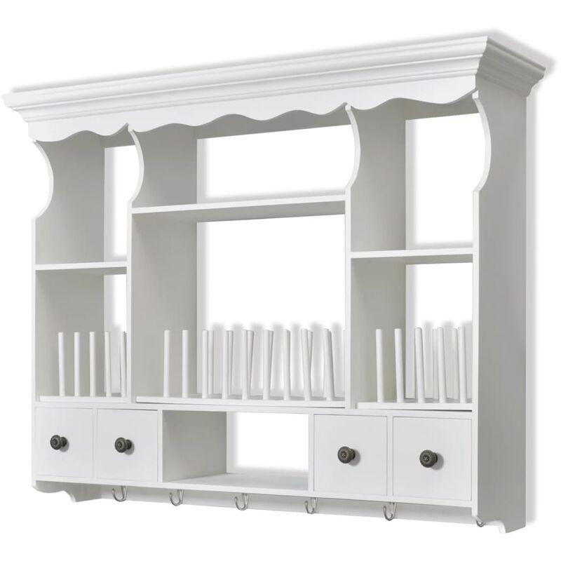 Armario de pared para la cocina madera blanca cocinas - Armarios de cocina en kit ...