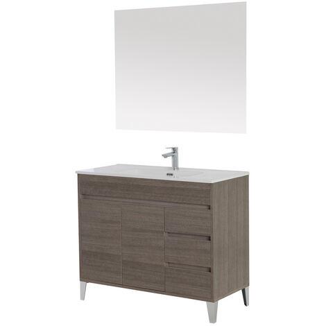 Mobile da bagno composizione con lavabo in ceramica arredo design moderno 606033 bagno - Lavabo cucina moderno ...