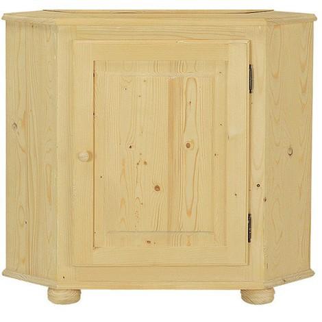 Base angolo vetrina country in legno massello grezzo in abete 60x60x85 ...