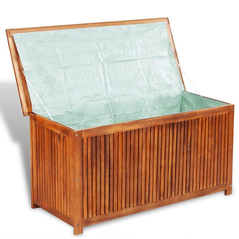 Ba l de almacenaje de madera jardines y piscinas - Baul de jardin ...