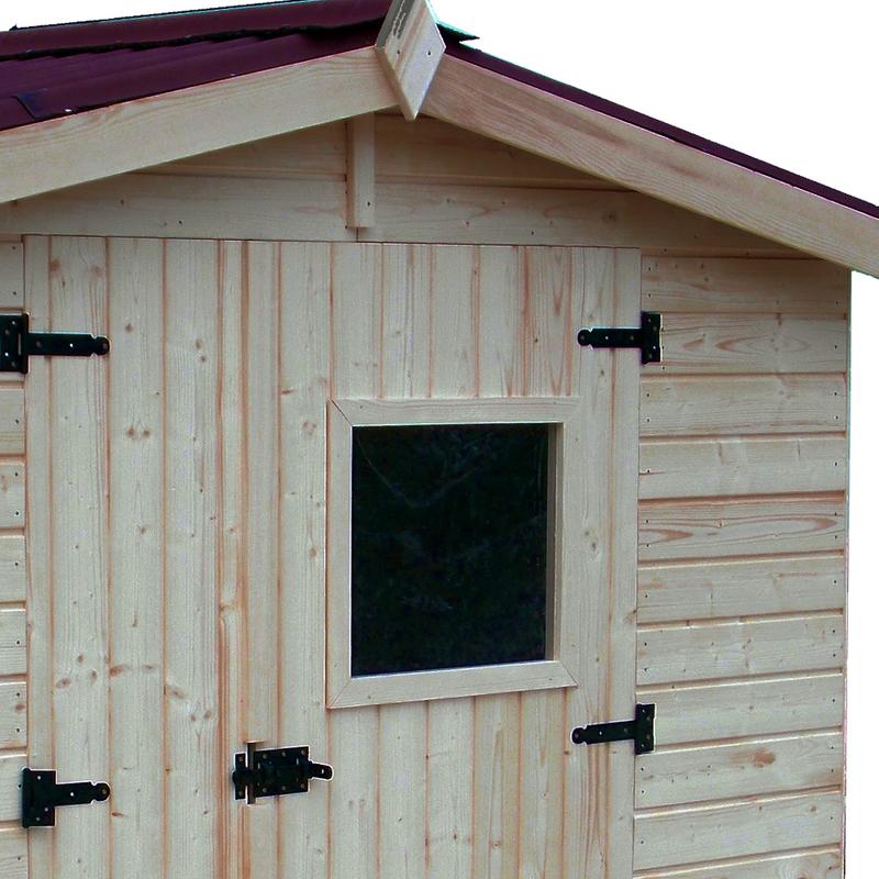 Box casetta in legno 120x120xh203cm con pavimento ed1212 - Casetta in legno con bagno ...