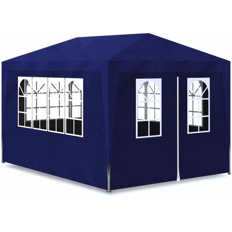 Carpa para fiesta mirador con 4 paredes color azul 3x4 for Piscinas familiares desmontables