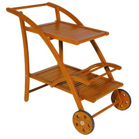 Carrello portavivande da giardino in legno finitura olio for Arredi in legno da giardino