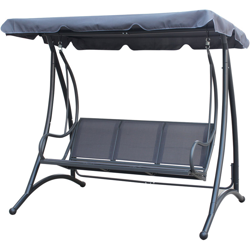 Charles Bentley 3 Seater Outdoor Swing Seat Bench Chair